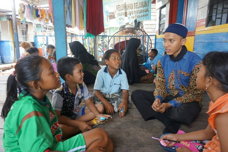 Edukasi Imtaq pada Komar Mengajar (Sumber: Dokumen Pribadi Komunitas)