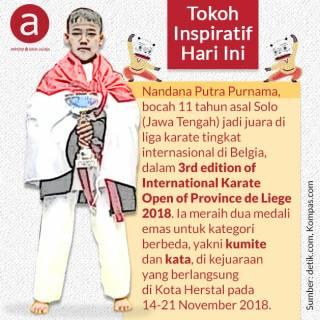 Bocah Asal Solo Peraih Kejuaraan Karate Internasional