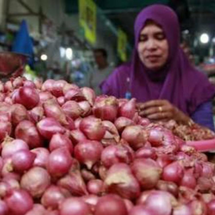Bawang Merah Membludak, Penjual di Pasar Induk Pare Merintih