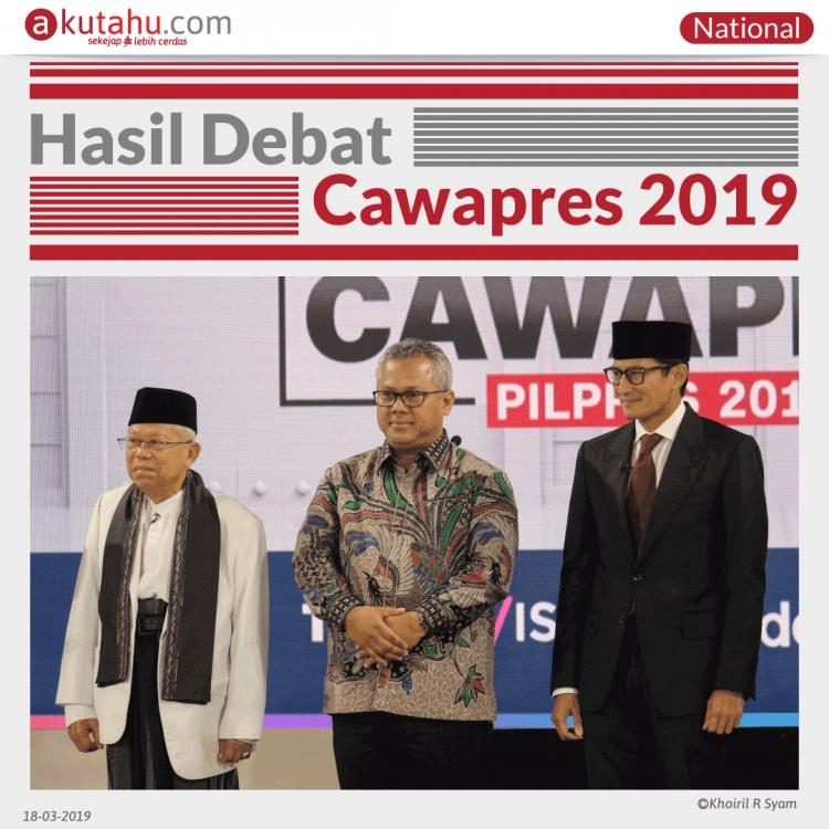 Hasil Debat Cawapres 2019
