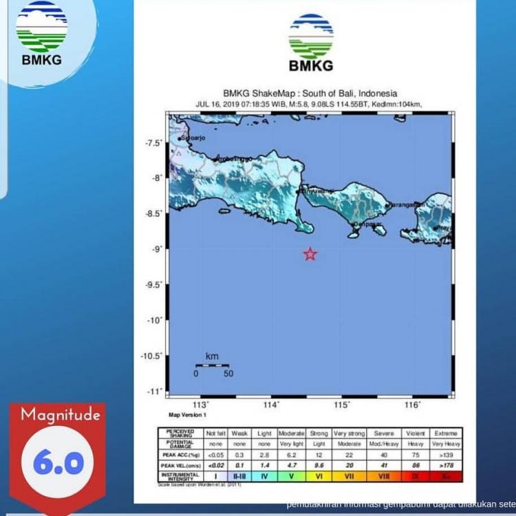 Gempa Guncang Bali, Terasa Hingga ke Daerah Lain
