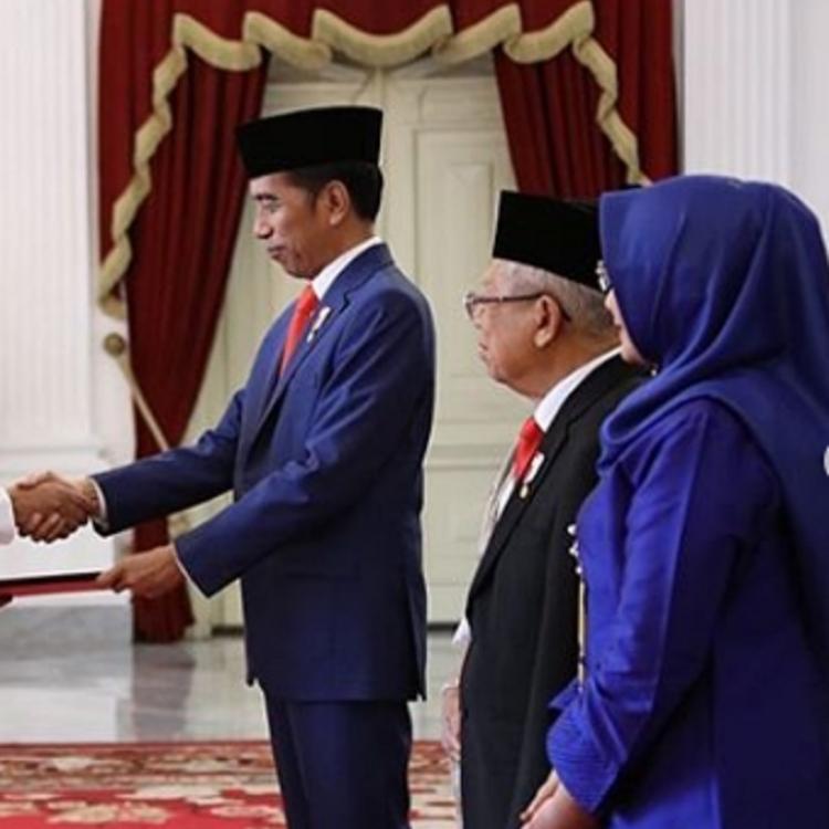 Presiden Jokowi Melantik Para Menteri Kabinet Indonesia Maju