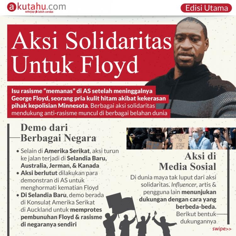 Aksi Solidaritas Untuk Floyd