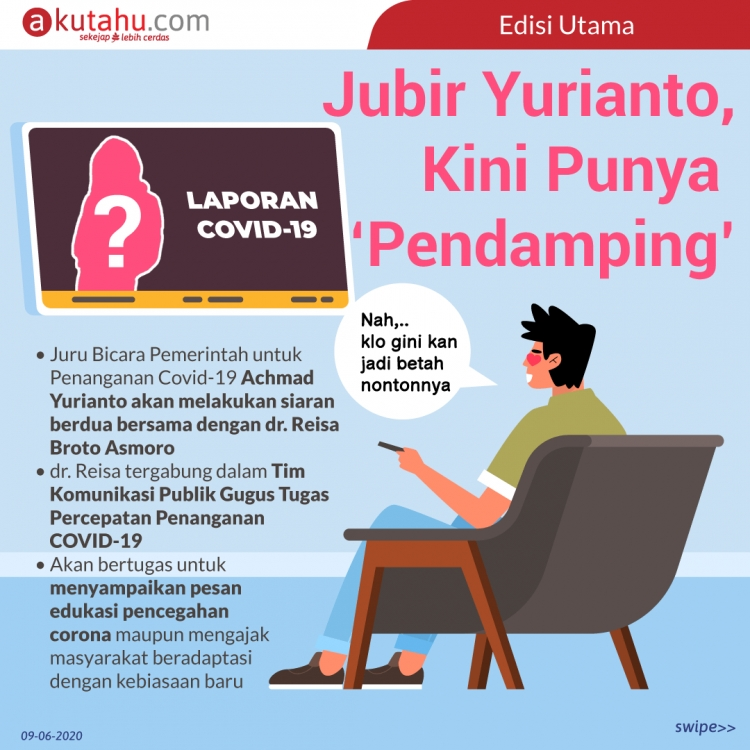 Jubir Yurianto, kini punya 'pendamping'