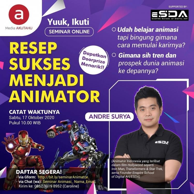 Resep Sukses menjadi Animator