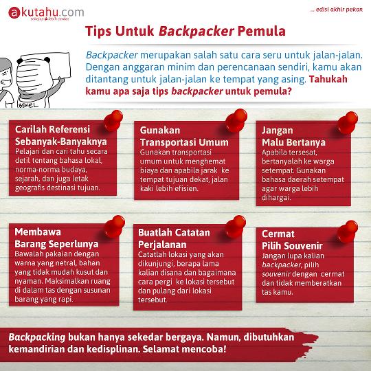 Tips untuk Backpaker Pemula