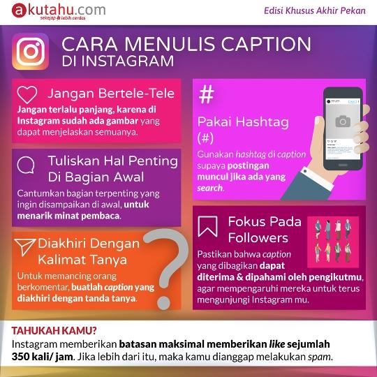 Cara Menulis Caption di Instagram
