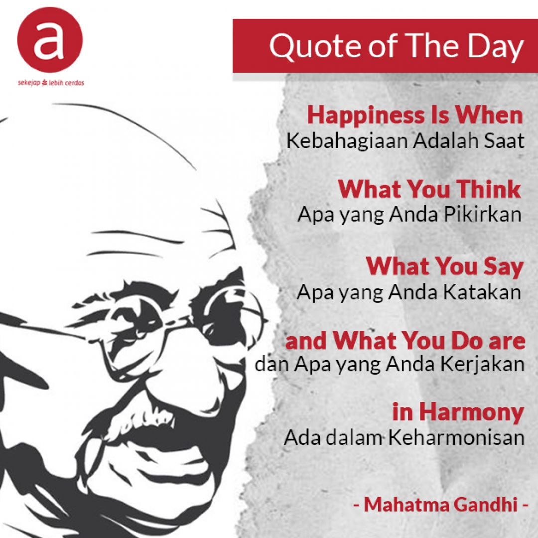 Quote of The Day dari Mahatma Gandhi