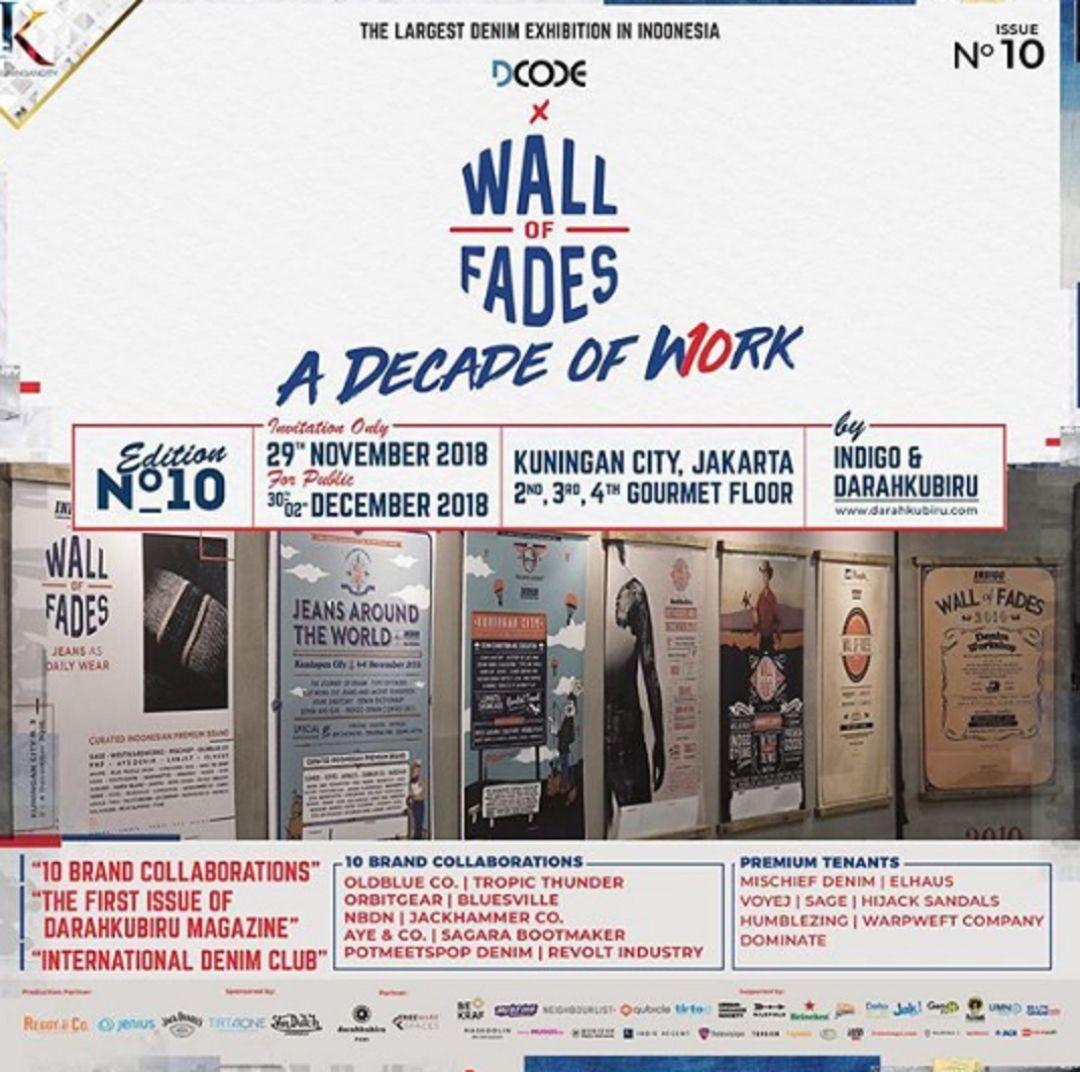 Satu Dekade Wall of Fades untuk Pecinta Jeans di Indonesia