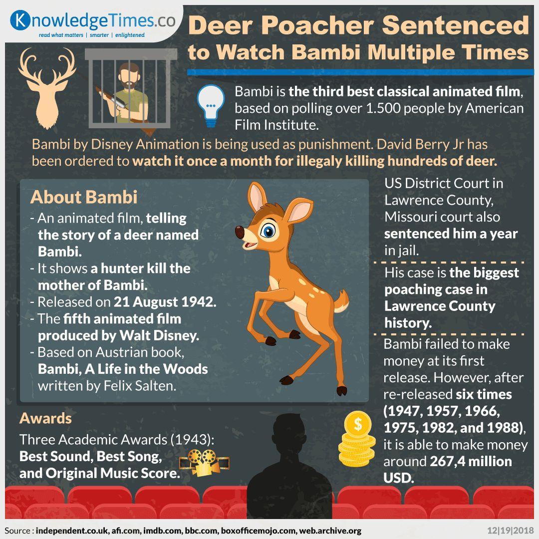 Deer Poacher Sentenced to Watch Bambi Multiple Times
