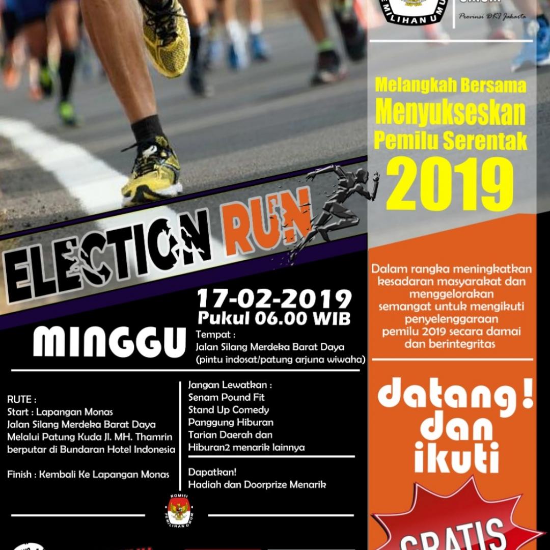 Jelang Pemilu 2019, KPU Ajak Masyarakat Berolahraga
