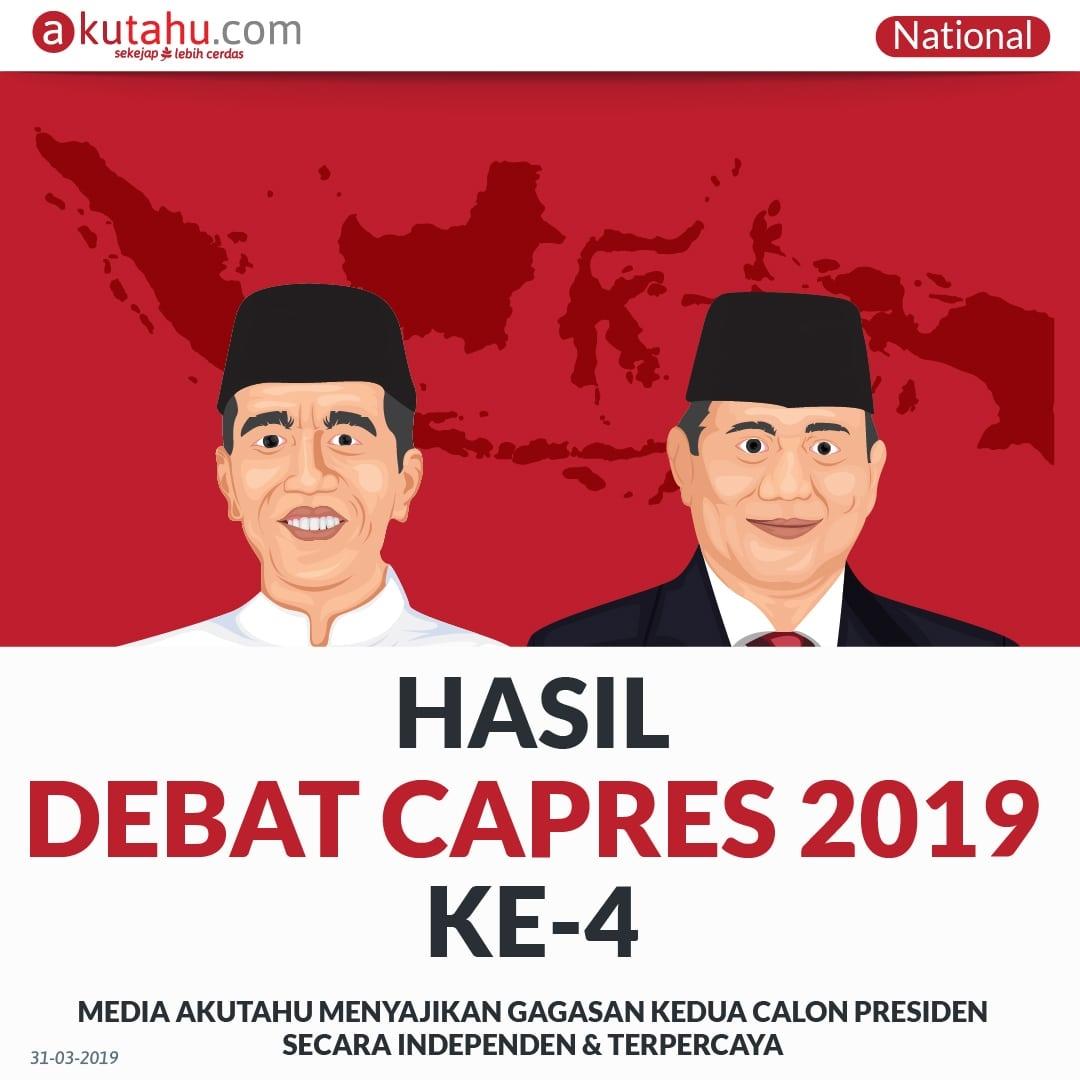 Hasil Debat Capres 2019 Ke-4