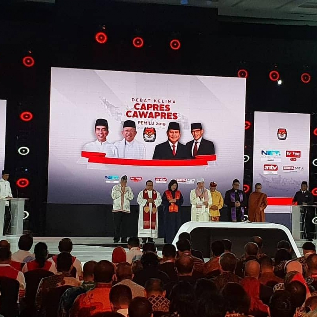 Debat Capres 2019, Jokowi dan Prabowo Bahas Masalah Ekonomi Indonesia