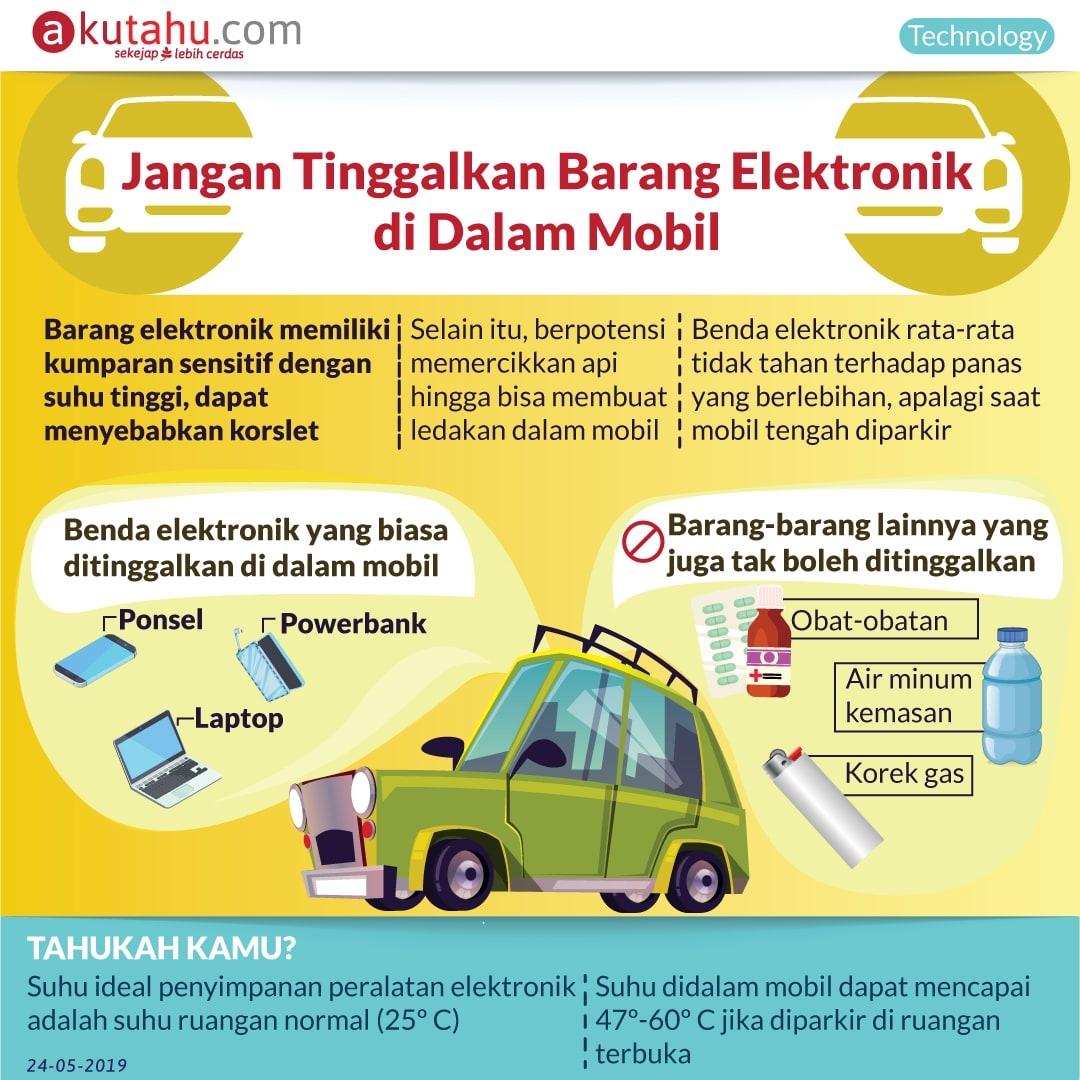 Jangan Tinggalkan Barang Elektronik di Dalam Mobil