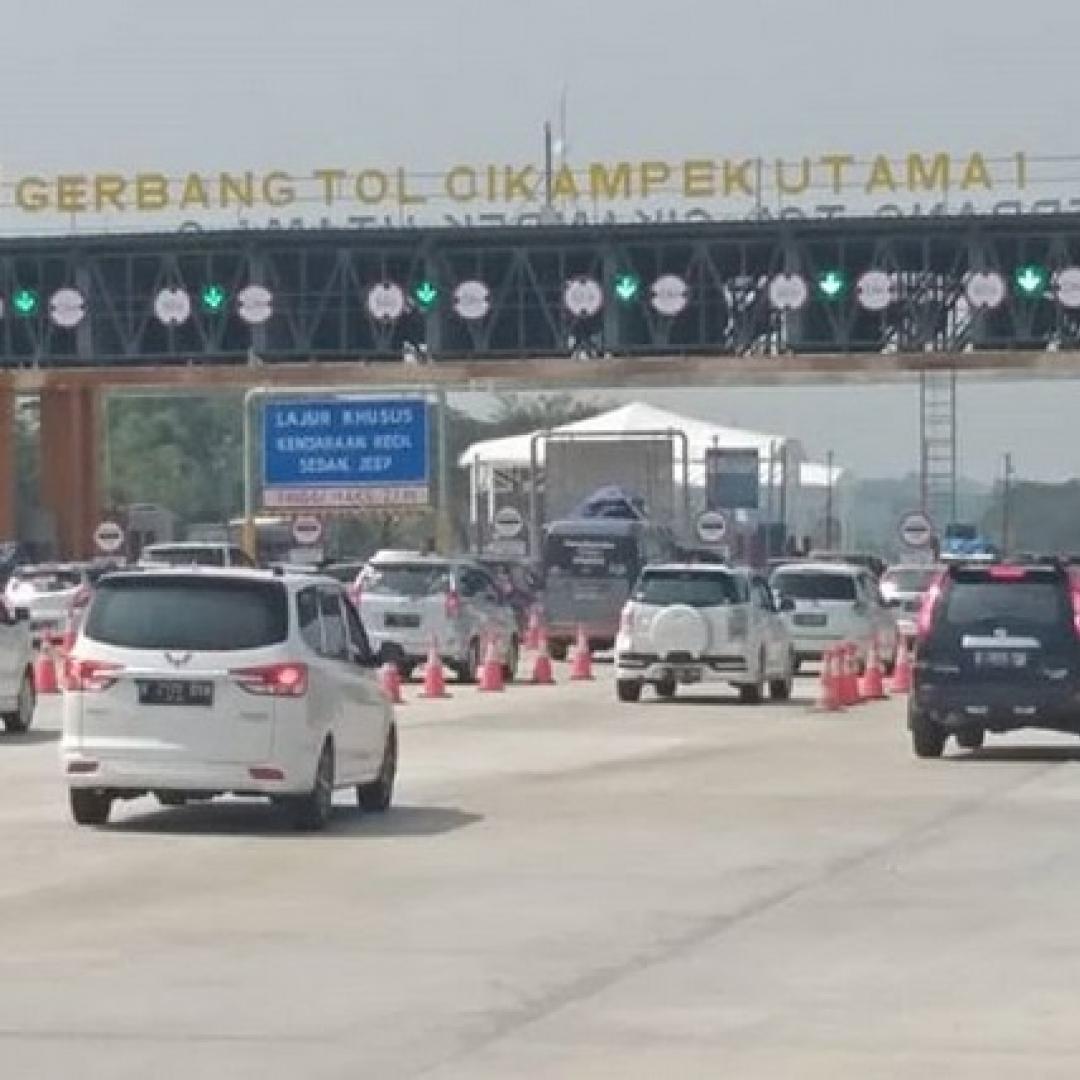 Libur Lebaran 2019 Usai, Pintu Tol Arah Jakarta Macet