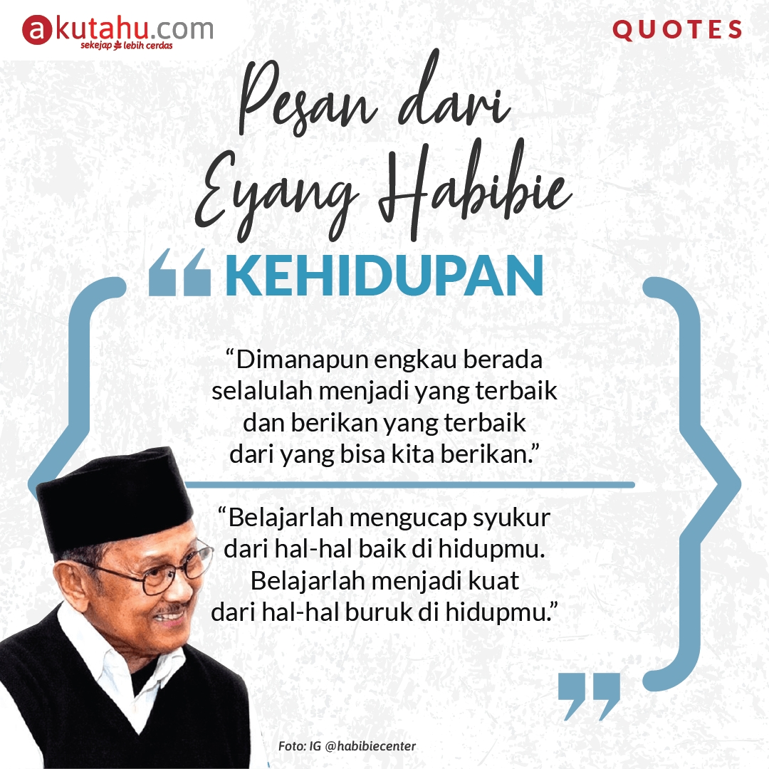 AKUTAHU QUOTES: B.J. Habibie