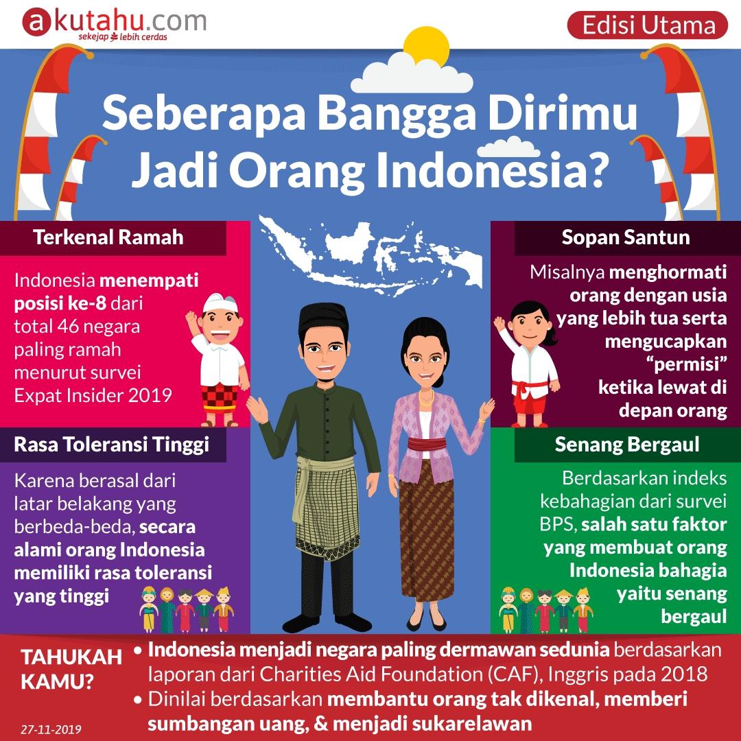 Seberapa Bangga Dirimu Jadi Orang Indonesia?