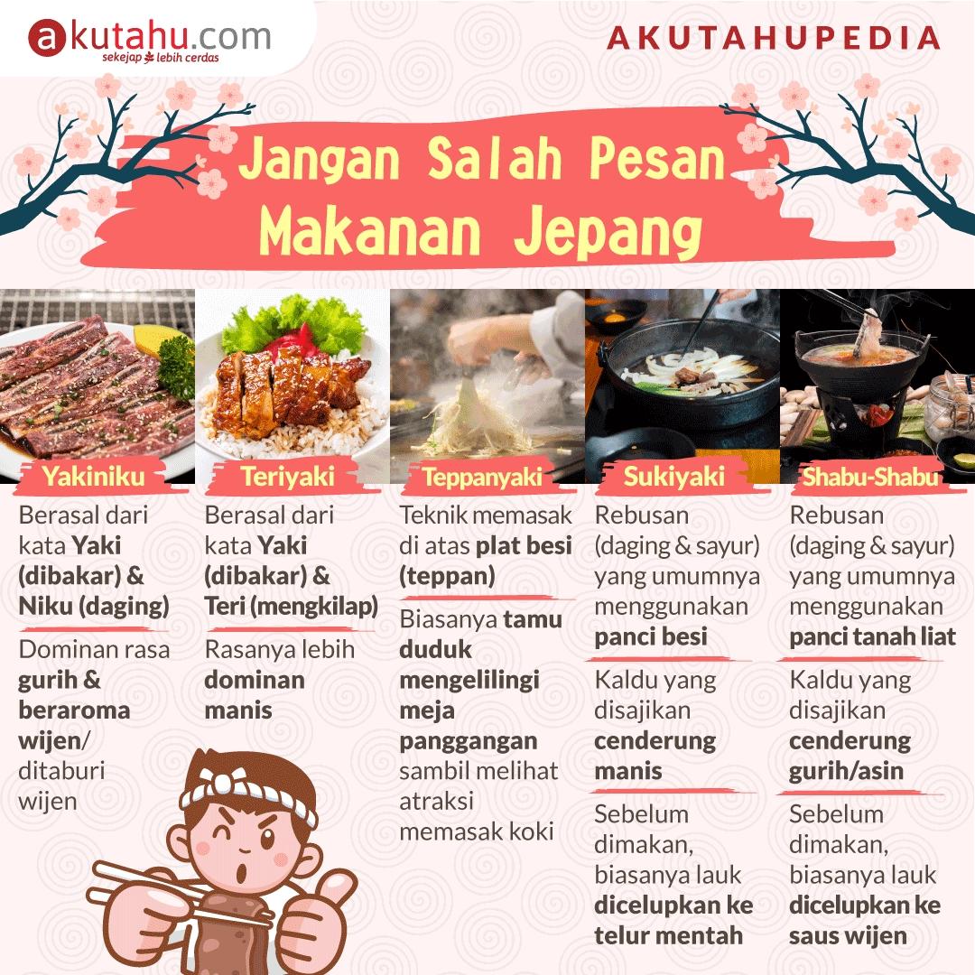 Jangan Salah Pesan Makanan Jepang