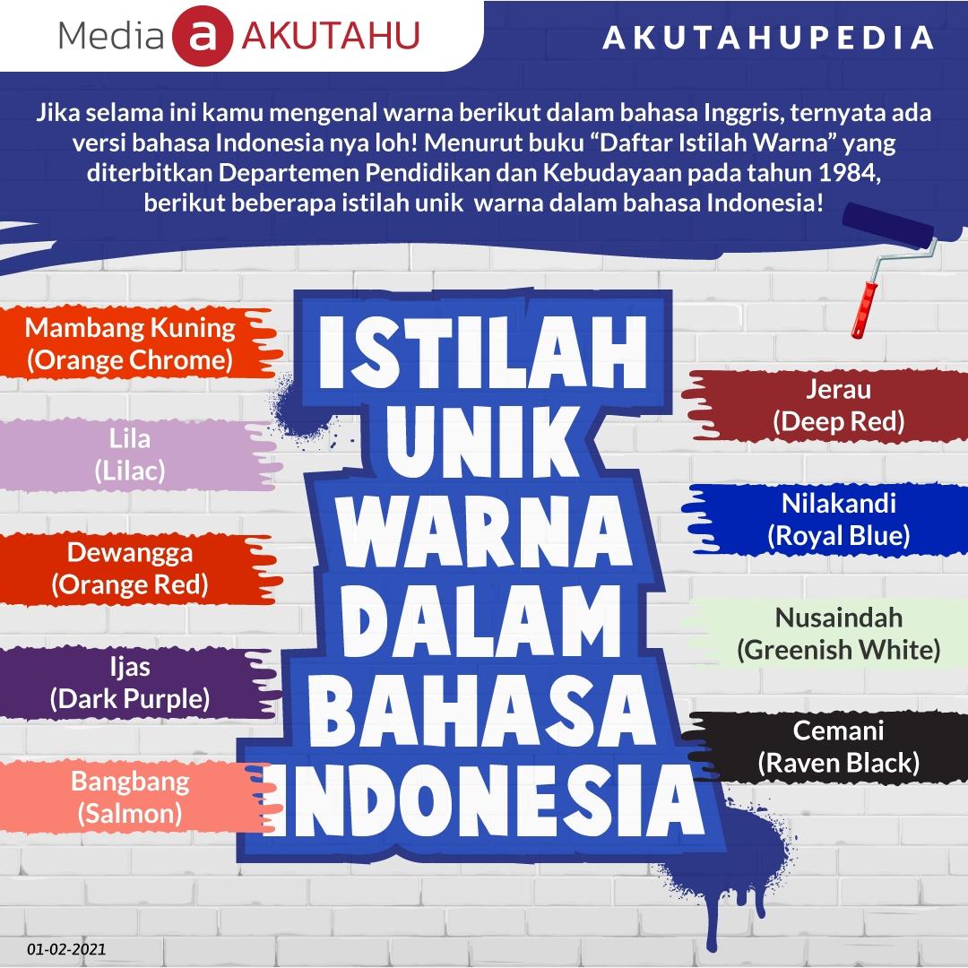 Istilah Unik Warna Dalam Bahasa Indonesia