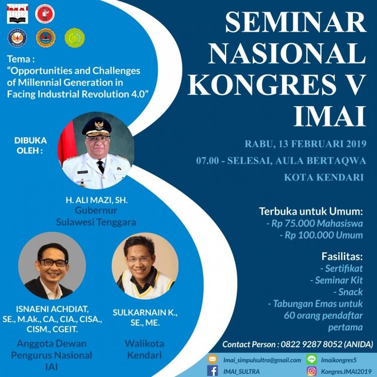 Seminar Nasional dan Kongres V Ikatan Mahasiswa Akuntansi Indonesia 2019