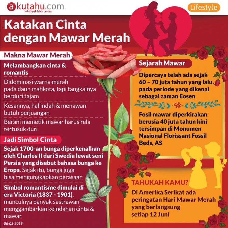 Katakan Cinta dengan Mawar Merah