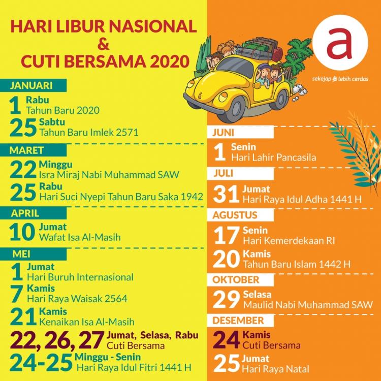 Hari Libur Nasional & Cuti Bersama 2020