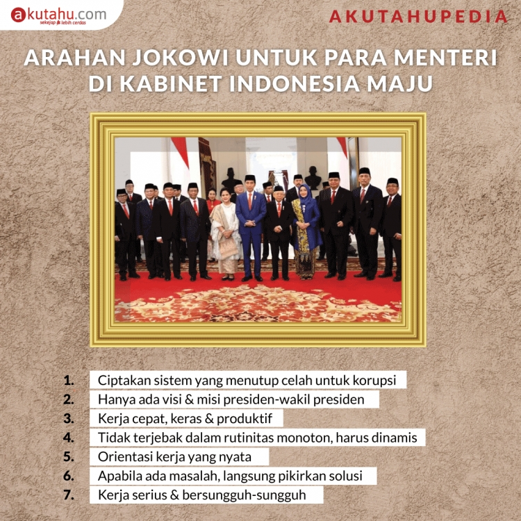 Arahan Jokowi untuk Para Menteri