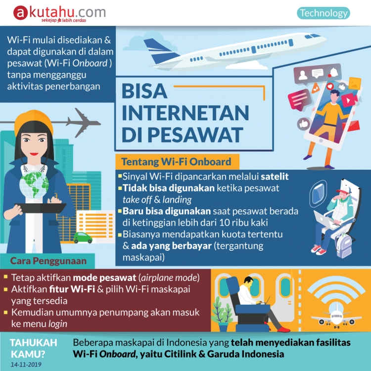 Bisa Internetan di Pesawat