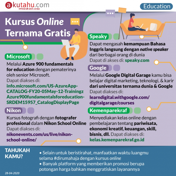Kursus Online Ternama Gratis