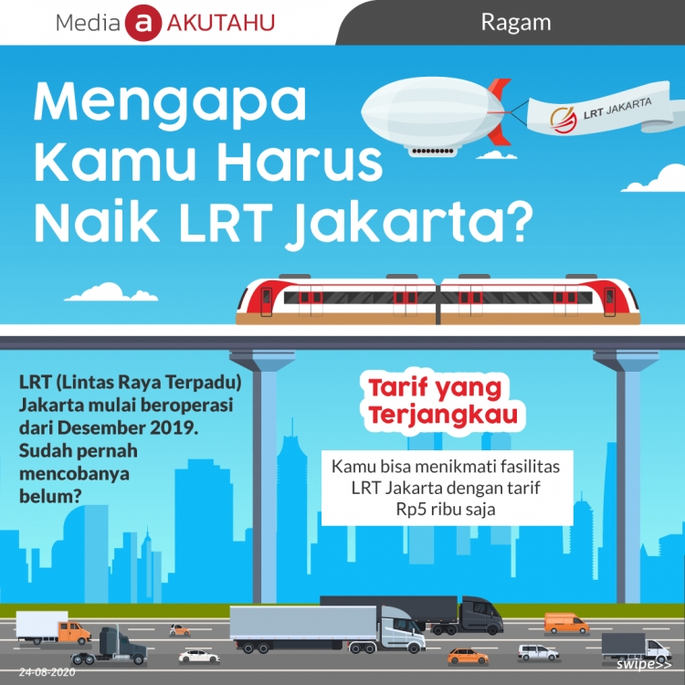 Mengapa kamu harus naik LRT Jakarta?
