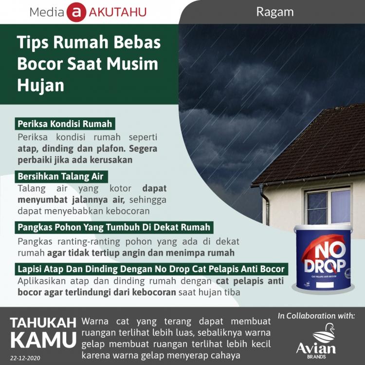 Tips Rumah Bebas Bocor Saat Musim Hujan