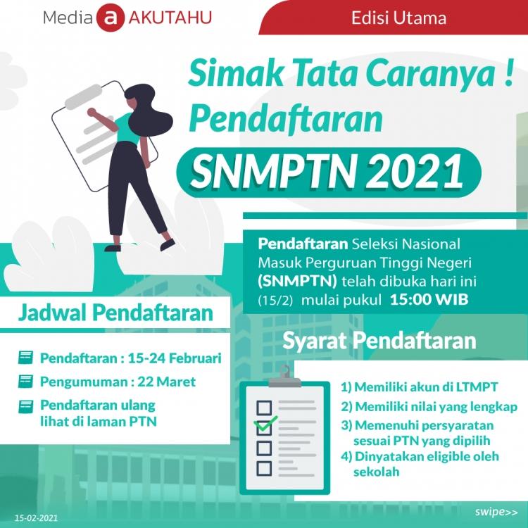 Simak Tata Caranya! Pendaftaran SNMPTN 2021
