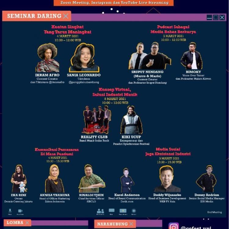 Collaboration Festival 2021 Diselenggarakan Secara Virtual Untuk Pertama Kalinya