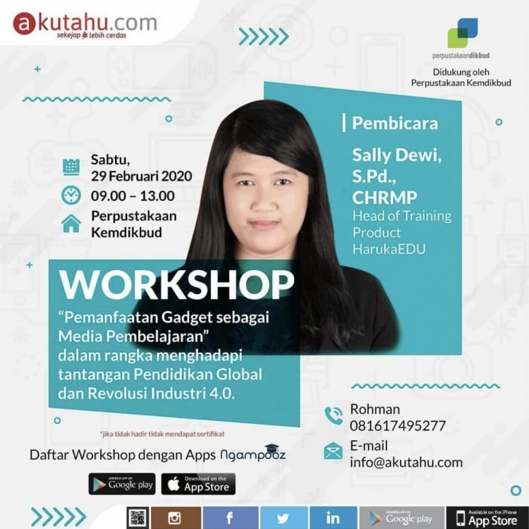 Workshop Pemanfaatan Gadget sebagai Media Pembelajaran
