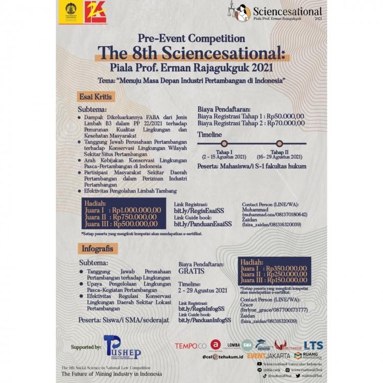 Pre Event Competition The 8th Sciencesational: Piala Prof. Erman Rajaguguk 2021