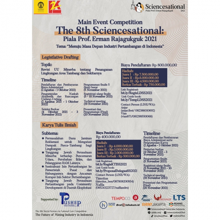 Main Event Competition The 8th Sciencesational: Piala Prof. Erman Rajaguguk 2021