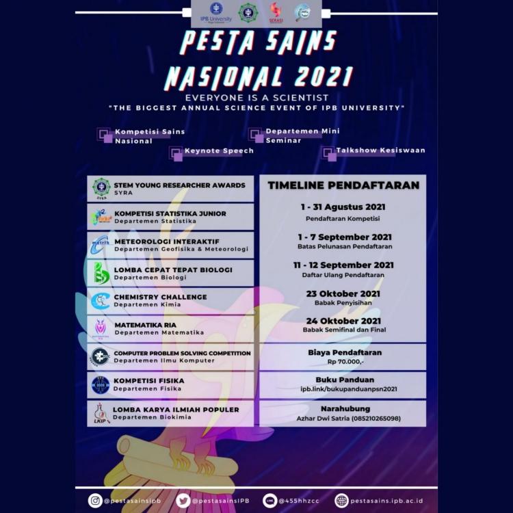 Pesta Sains Nasional 2021 IPB University