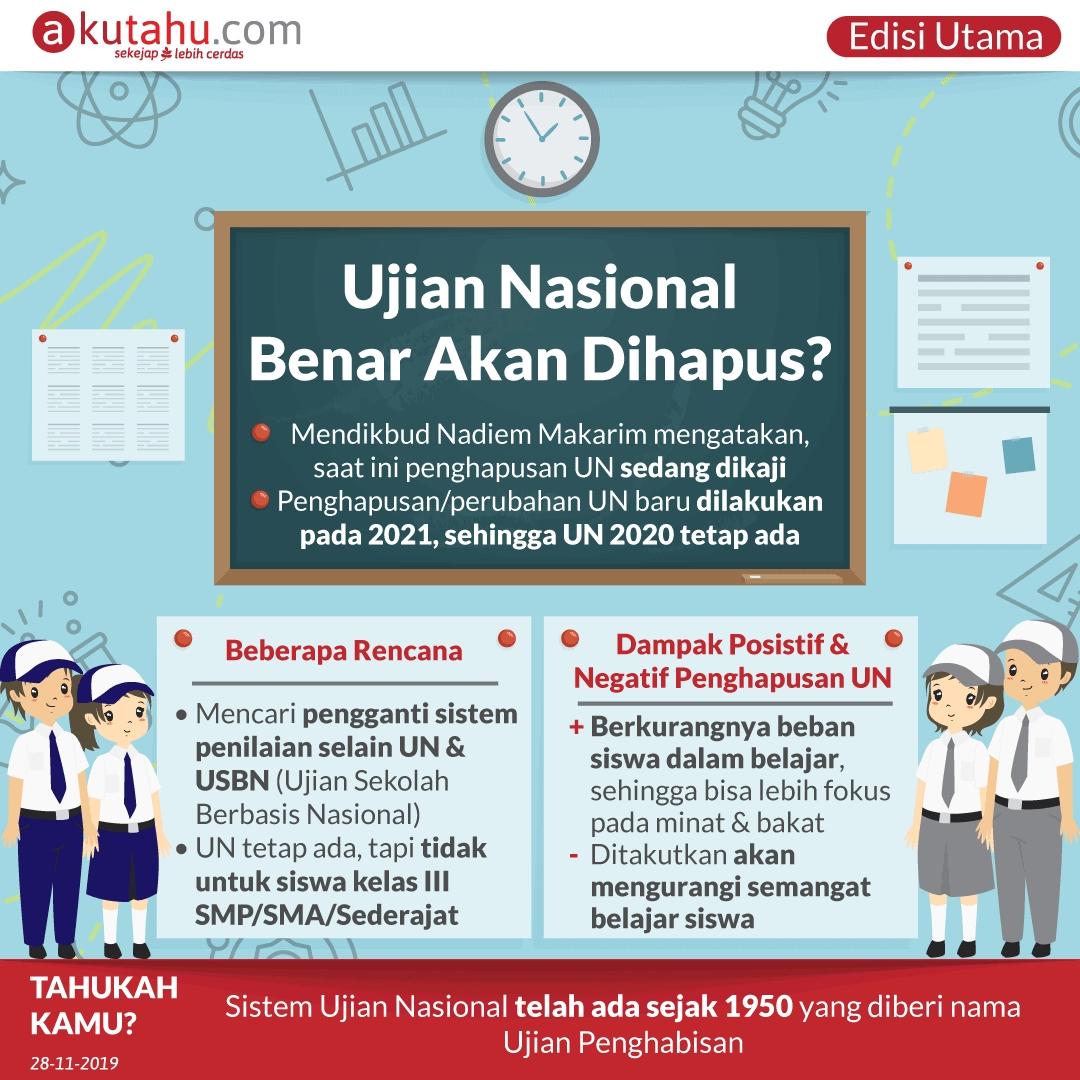 Ujian Nasional Benar Akan Dihapus?