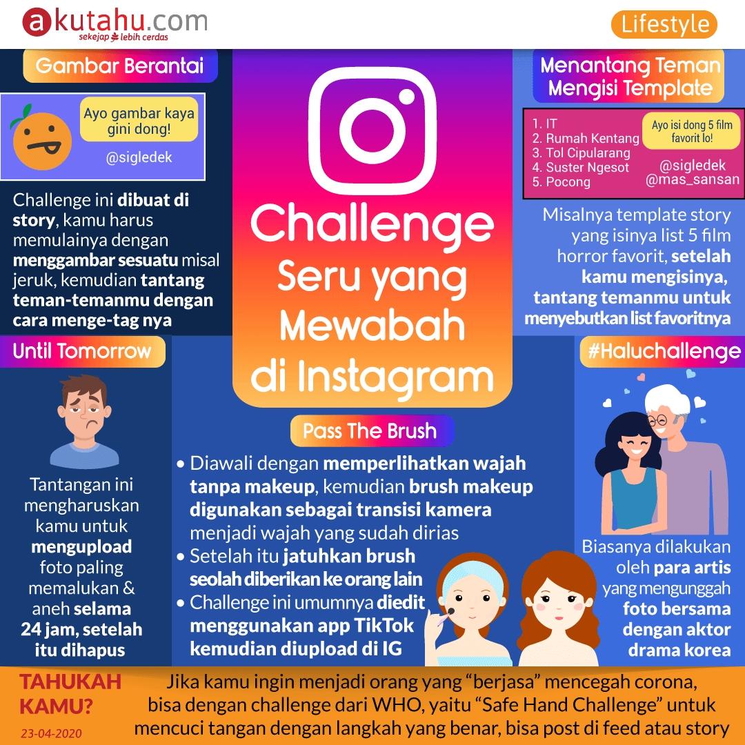 Challenge Seru yang Mewabah di Instagram