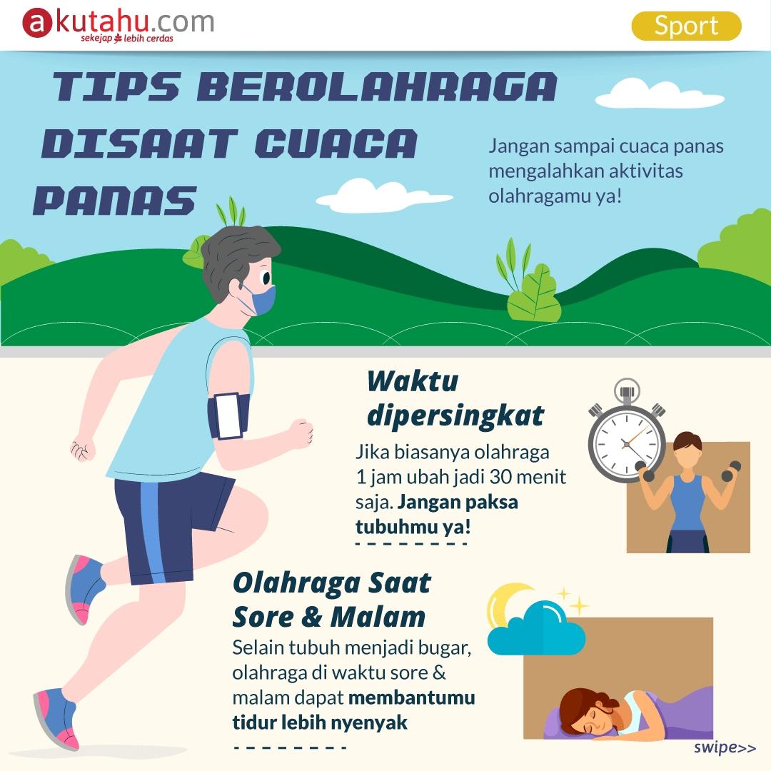 Tips Berolahraga Disaat Cuaca Panas