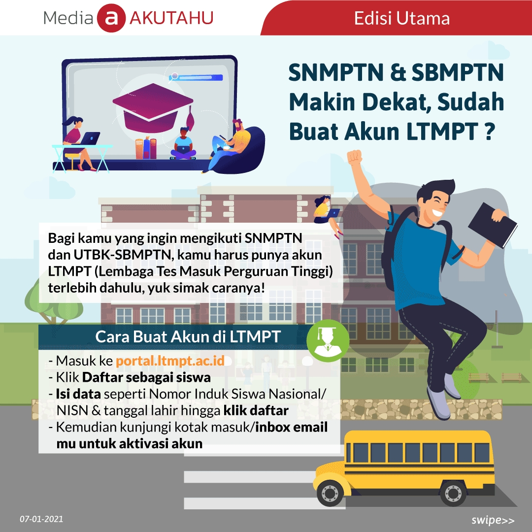 *SNMPTN & SBMPTN Makin Dekat, Sudah Buat Akun LTMPT?