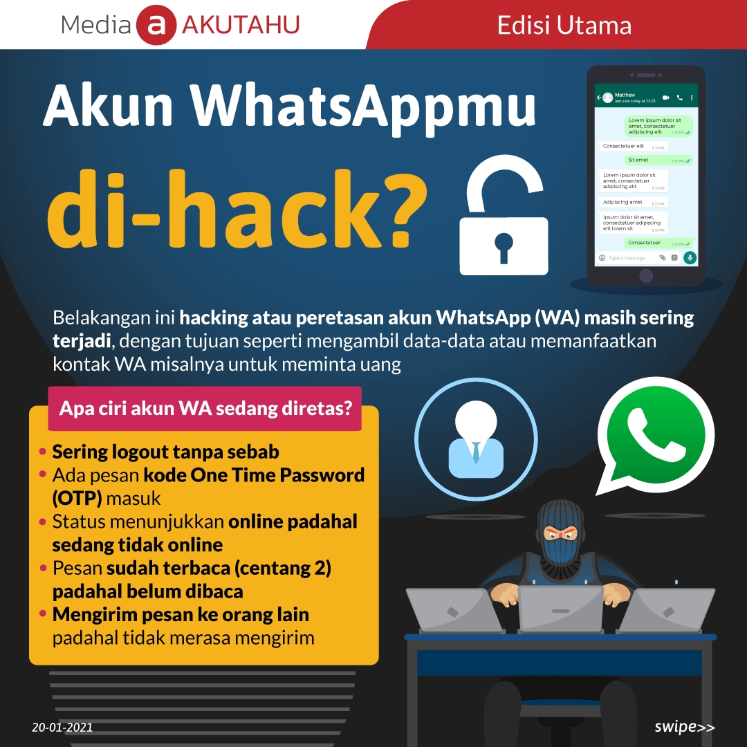 Akun WhatsAppmu di-hack?