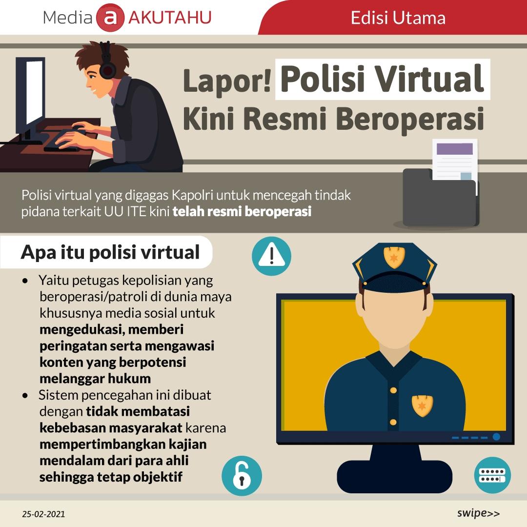 Lapor! Polisi Virtual Kini Resmi Beroperasi
