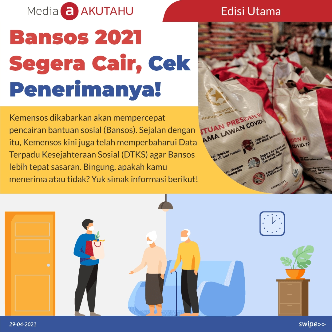 Bansos 2021 Segera Cair, Cek Penerimanya!