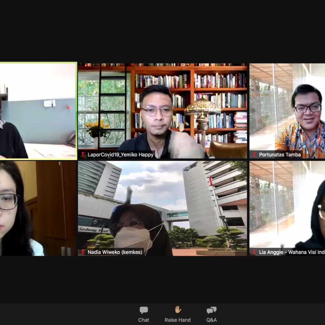 Diskusi Publik: Asesmen Umpan Balik Warga terkait Pelaksanaan Vaksinasi Covid-19 oleh Wahana Visi Indonesia dan LaporCovid-19